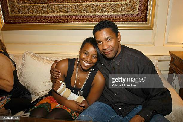 Olivia Washington and Denzel Washington attend RICHARD TURLEY Birthday Dinner at The Home of YueSai Kan on December 21 2006 in New York City