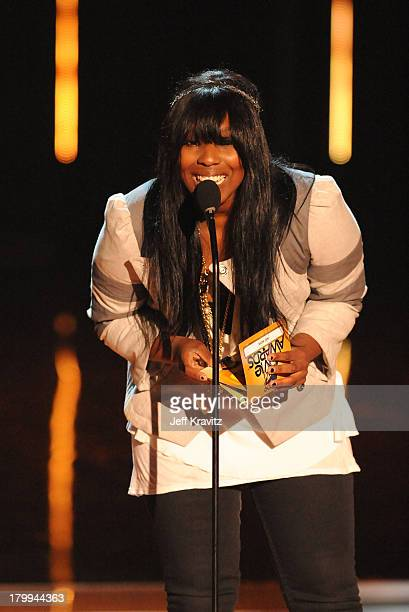 Olivia Washington onstage during the 2009 MTV Movie Awards held at the Gibson Amphitheatre on May 31 2009 in Universal City California