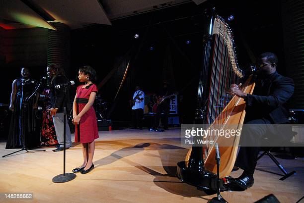 Olivia Washington performs at Charles H Wright Museum of African American History on July 12 2012 in Detroit Michigan