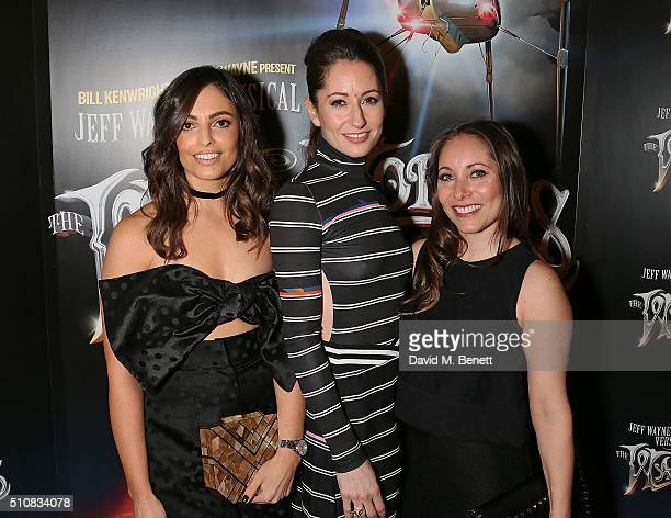 Olivia Wayne Jemma Wayne and Anna Marie Wayne attend the Gala Performance of 'The War Of The Worlds' at The Dominion Theatre on February 17 2016 in...