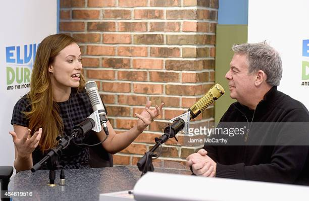 Olivia Wilde and Elvis Duran speak during The Elvis Duran Z100 Morning Show at Z100 Studio on February 26 2015 in New York City