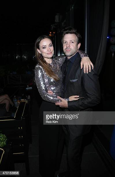 Olivia Wilde and Jason Sudeikis attend 2015 Tribeca Film Festival After Party For Meadowland, Sponsored By BOMBAY SAPPHIRE Gin at PhD, Dream Downtown...