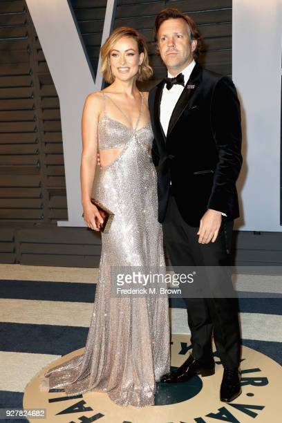 Olivia Wilde and Jason Sudeikis attend the 2018 Vanity Fair Oscar Party hosted by Radhika Jones at Wallis Annenberg Center for the Performing Arts on...