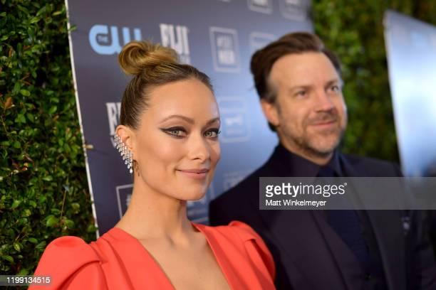 Olivia Wilde and Jason Sudeikis attend the 25th Annual Critics' Choice Awards at Barker Hangar on January 12, 2020 in Santa Monica, California.