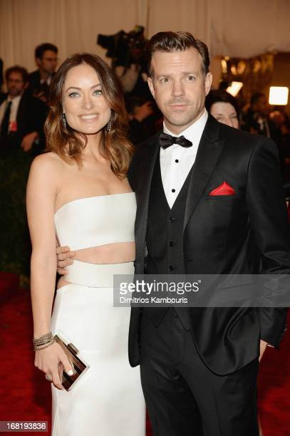 Olivia Wilde and Jason Sudeikis attend the Costume Institute Gala for the 'PUNK Chaos to Couture' exhibition at the Metropolitan Museum of Art on May...