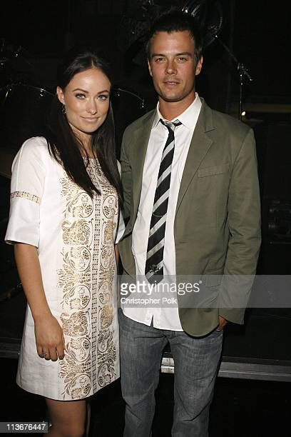 Olivia Wilde and Josh Duhamel during Spike TV's 'Scream Awards 2006' Backstage and Audience at Pantages Theater in Hollywood California United States