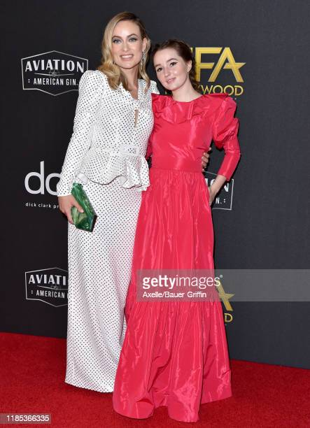 Olivia Wilde and Kaitlyn Dever attend the 23rd Annual Hollywood Film Awards at The Beverly Hilton Hotel on November 03, 2019 in Beverly Hills,...