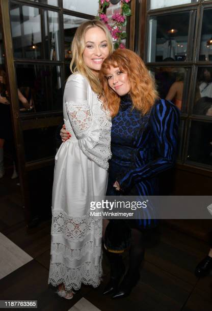 Olivia Wilde and Natasha Lyonne attend the Hollywood Foreign Press Association and The Hollywood Reporter Celebration of the 2020 Golden Globe Awards...