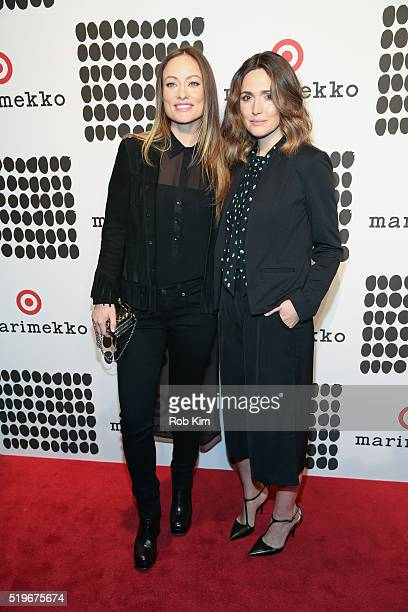 Olivia Wilde and Rose Byrne attend the launch of Marimekko For Target at The High Line on April 7 2016 in New York City