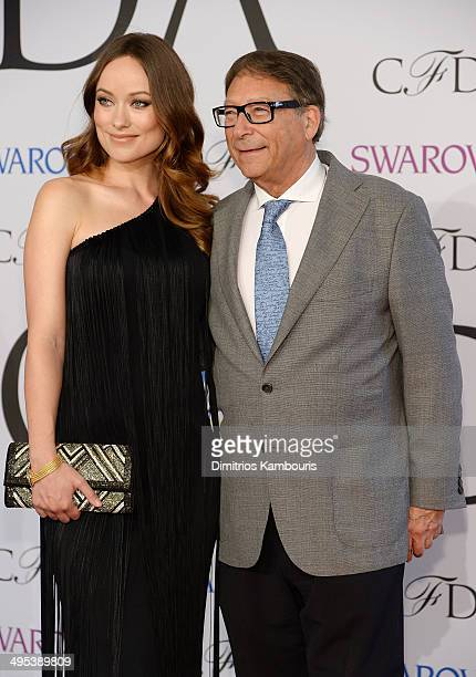 Olivia Wilde and Stuart Weitzman attend the 2014 CFDA fashion awards at Alice Tully Hall Lincoln Center on June 2 2014 in New York City