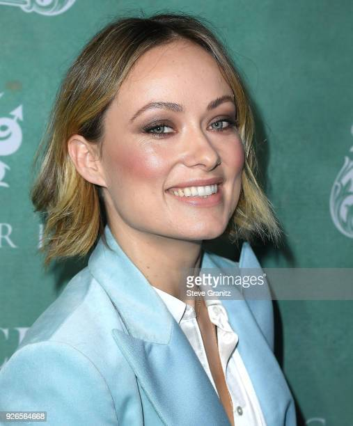 Olivia Wilde arrives at the 11th Annual Celebration Of The 2018 Female Oscar Nominees Presented By Women In Film at Crustacean on March 2 2018 in...
