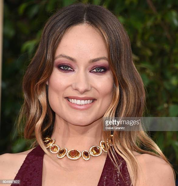 Olivia Wilde arrives at the 73rd Annual Golden Globe Awards at The Beverly Hilton Hotel on January 10 2016 in Beverly Hills California