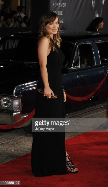 Olivia Wilde arrives at the 'In Time' Los Angeles Premiere at Regency Village Theatre on October 20 2011 in Westwood California