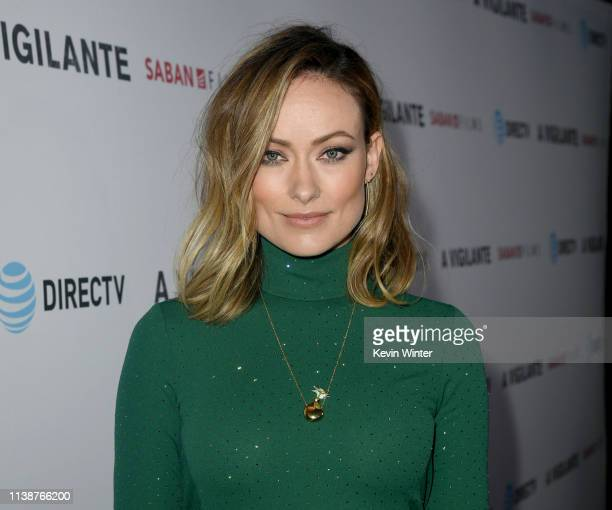 Olivia Wilde arrives at the premiere of Saban Films and DirecTV's A Vigilante at the Vista Theatre on March 27 2019 in Los Angeles California