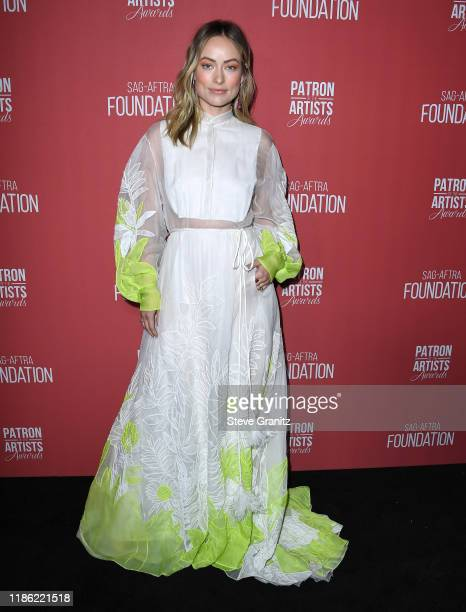 Olivia Wilde arrives at the SAGAFTRA Foundation's 4th Annual Patron Of The Artists Awards at Wallis Annenberg Center for the Performing Arts on...