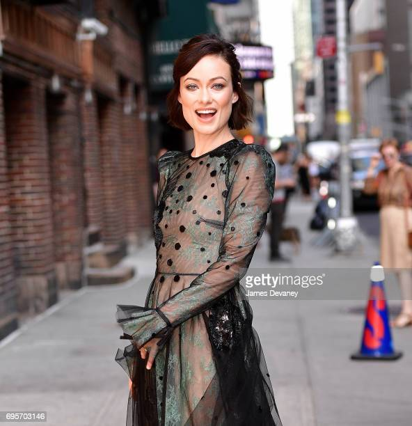Olivia Wilde arrives to the 'The Late Show With Stephen Colbert' at the Ed Sullivan Theater on June 13 2017 in New York City
