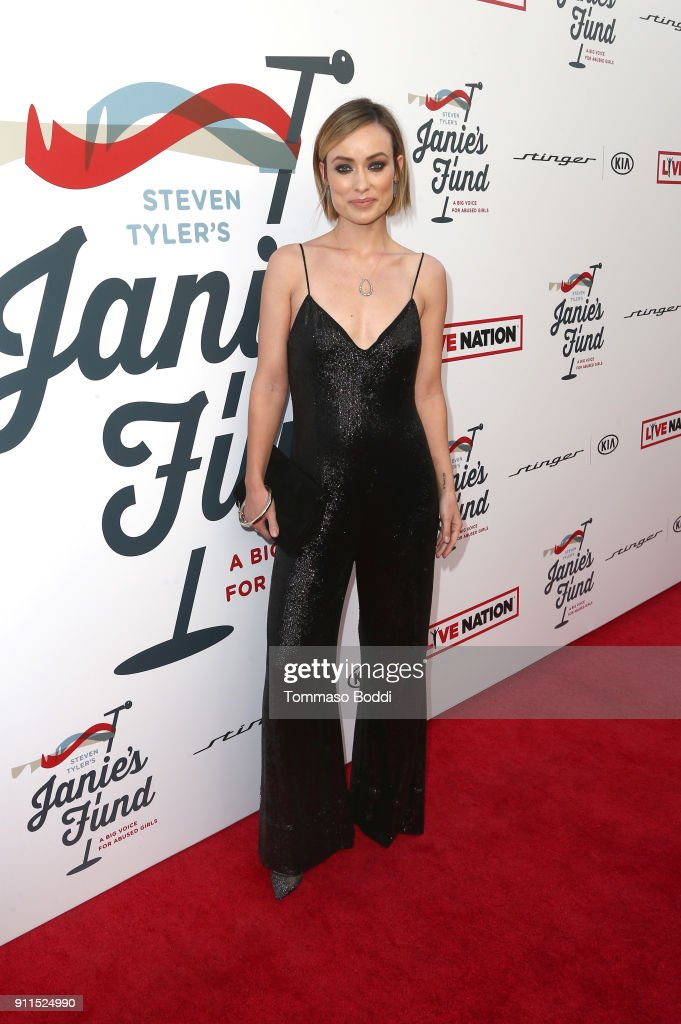 Olivia Wilde at Steven Tyler and Live Nation presents Inaugural Janie's Fund Gala & GRAMMY Viewing Party at Red Studios on January 28, 2018 in Los Angeles, California.