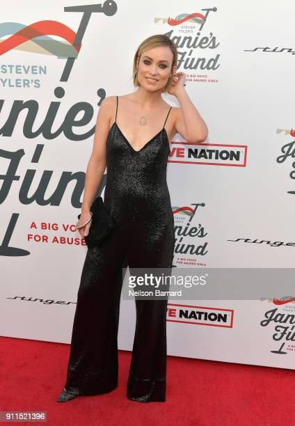 Olivia Wilde at Steven Tyler and Live Nation presents Inaugural Gala Benefitting Janie's Fund at Red Studios on January 28 2018 in Los Angeles...
