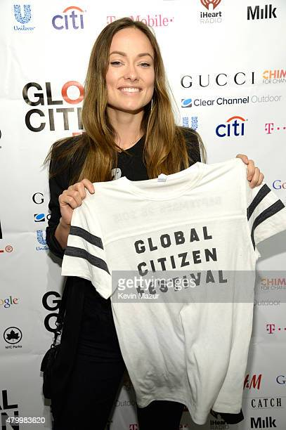 Olivia Wilde attends 2015 Global Citizen Festival launch party at Milk Studios on July 8 2015 in New York City