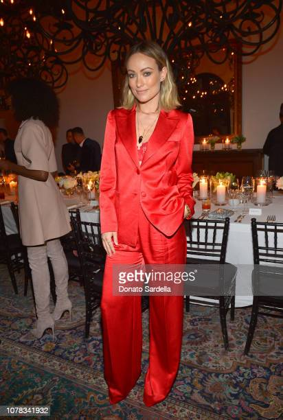 Olivia Wilde attends a private dinner hosted by GQ and Dior in celebration of the 2018 GQ Men Of The Year Party on December 06 2018 in Los Angeles...