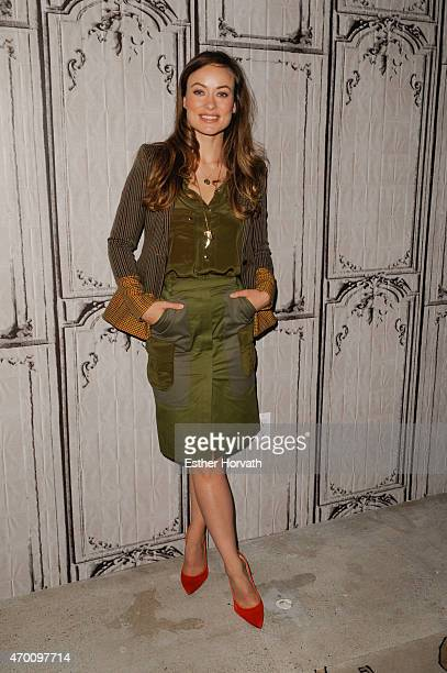 Olivia Wilde attends AOL Build Speaker Series Olivia Wilde Ty Simpkins Reed Morano Meadowland at AOL Studios In New York on April 17 2015 in New York...