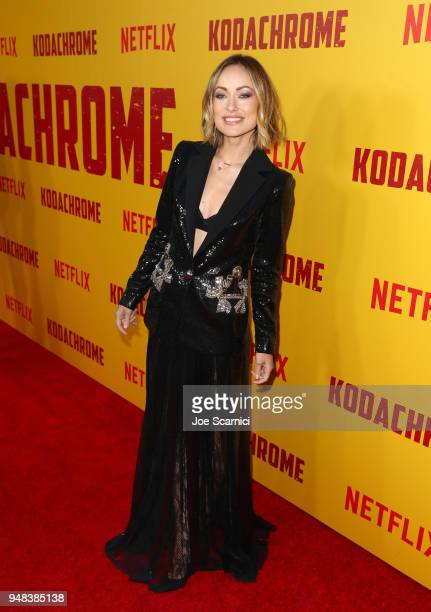 Olivia Wilde attends Los Angeles special screening of Netflix's film 'KODACHROME' on April 18 2018 in Hollywood California