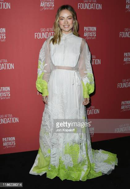 Olivia Wilde attends SAGAFTRA Foundation's 4th Annual Patron Of The Artists Awards at Wallis Annenberg Center for the Performing Arts on November 07...