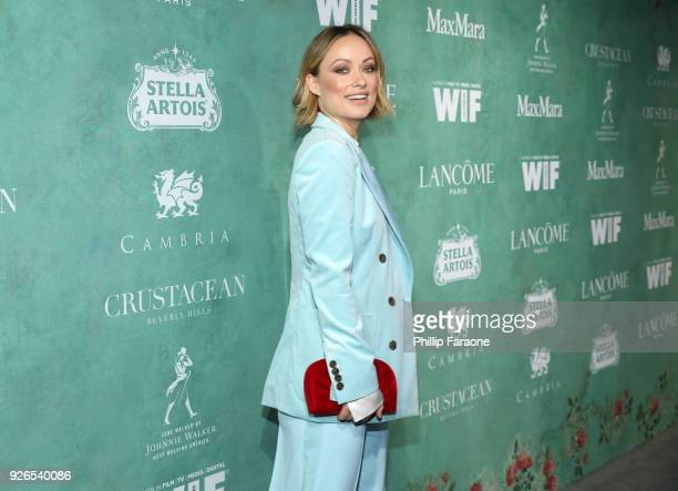 Olivia Wilde attends the 11th annual celebration of the 2018 female Oscar nominees presented by Women in Film at Crustacean on March 2 2018 in...
