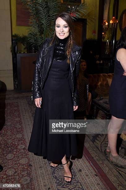 Olivia Wilde attends the 2015 Tribeca Film Festival After Party for 'Sleeping With Other People' sponsored by Dark Horse Wines at The Jane Hotel on...
