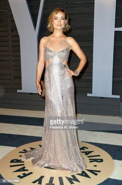 Olivia Wilde attends the 2018 Vanity Fair Oscar Party hosted by Radhika Jones at Wallis Annenberg Center for the Performing Arts on March 4 2018 in...