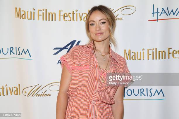 Olivia Wilde attends the 2019 Maui Film Festival on June 16 2019 in Wailea Hawaii