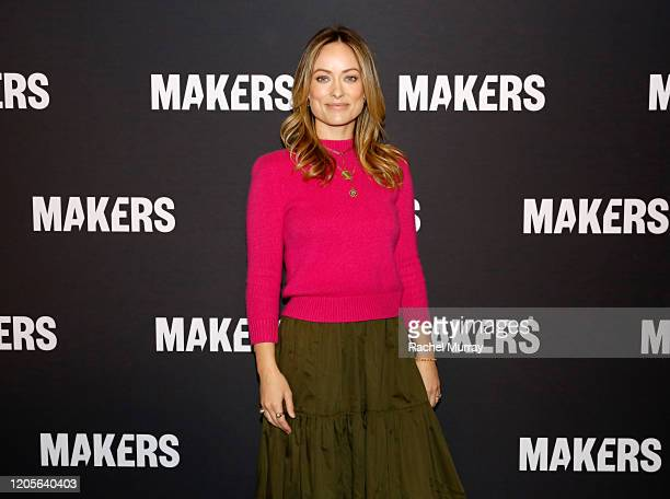 Olivia Wilde attends The 2020 MAKERS Conference on February 11 2020 in Los Angeles California