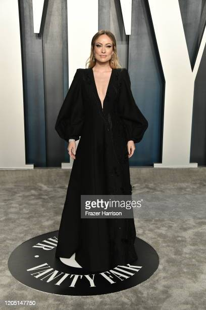 Olivia Wilde attends the 2020 Vanity Fair Oscar Party hosted by Radhika Jones at Wallis Annenberg Center for the Performing Arts on February 09, 2020...