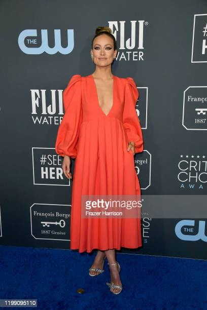 Olivia Wilde attends the 25th Annual Critics' Choice Awards at Barker Hangar on January 12 2020 in Santa Monica California