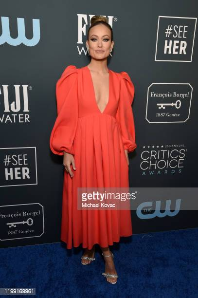 Olivia Wilde attends the 25th annual Critics' Choice Awards at Barker Hangar on January 12, 2020 in Santa Monica, California.