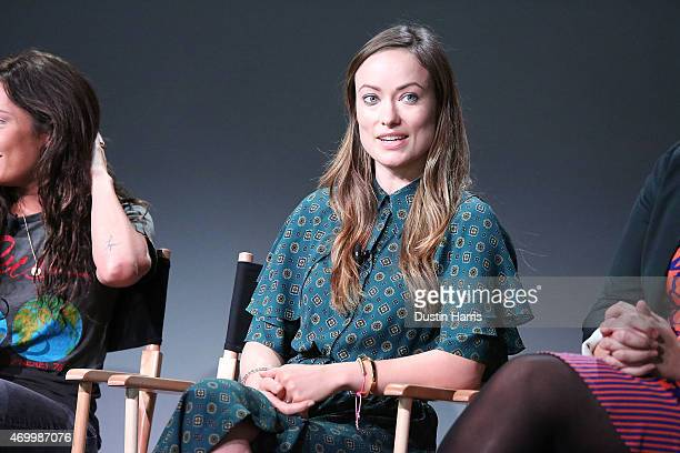 """Olivia Wilde attends The Apple Store Soho Presents Tribeca Film Festival: Reed Morano, Olivia Wilde, And Margot Hand, """"Meadowland"""" at Apple Store..."""