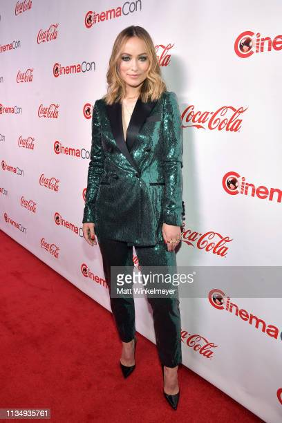 Olivia Wilde attends The CinemaCon Big Screen Achievement Awards Brought to you by The CocaCola Company at OMNIA Nightclub at Caesars Palace during...