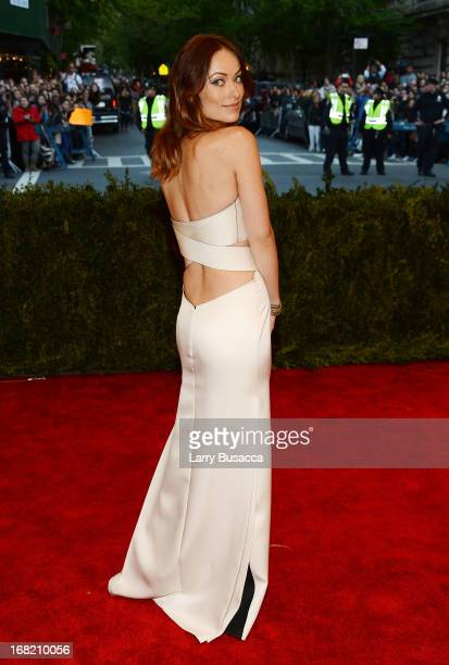 Olivia Wilde attends the Costume Institute Gala for the 'PUNK Chaos to Couture' exhibition at the Metropolitan Museum of Art on May 6 2013 in New...