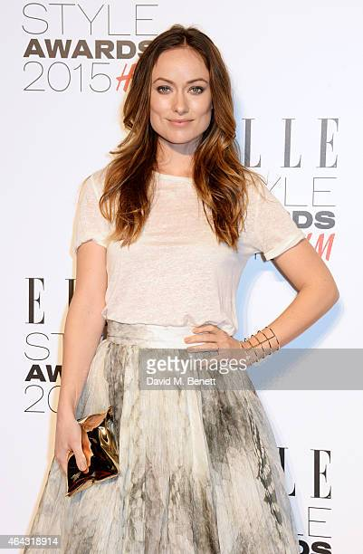 Olivia Wilde attends the Elle Style Awards 2015 at Sky Garden @ The Walkie Talkie Tower on February 24 2015 in London England