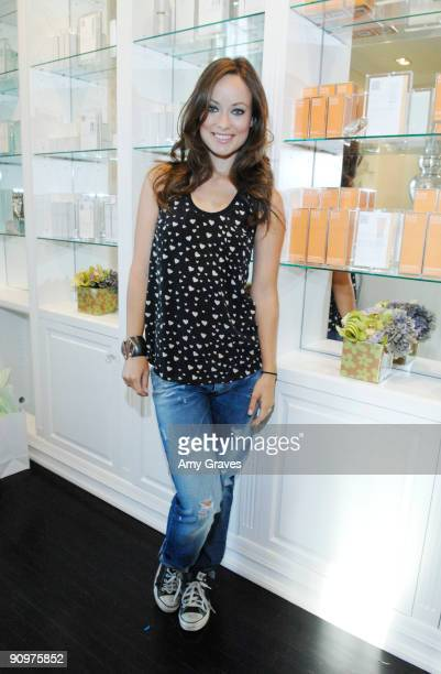 Olivia Wilde attends the Kate Somerville Emmy Gifting Suite Event Day 3 at Kate Somerville on September 19 2009 in Los Angeles California