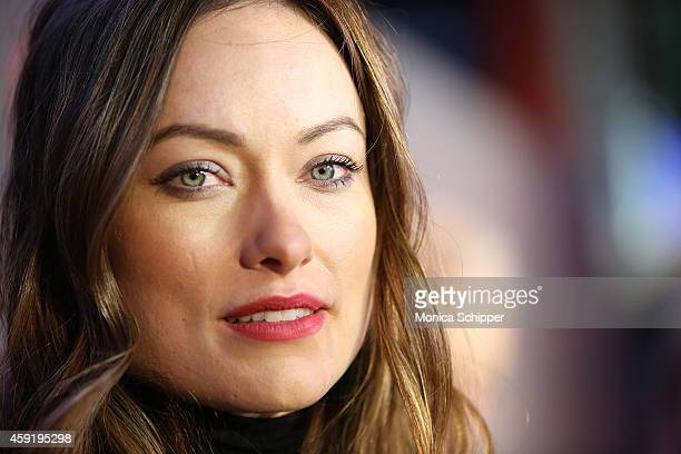 Olivia Wilde attends the 'Love Is On' campaign launch event at Times Square on November 18 2014 in New York City