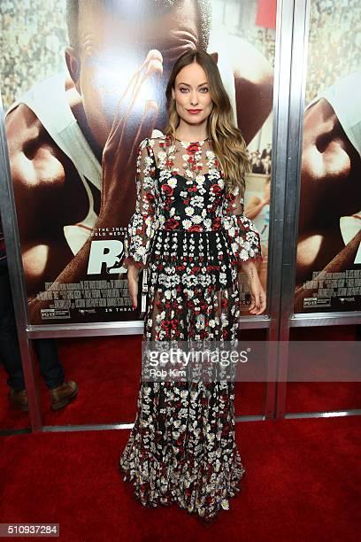 Olivia Wilde attends the New York Screening of 'Race' at Landmark's Sunshine Cinema on February 17 2016 in New York City