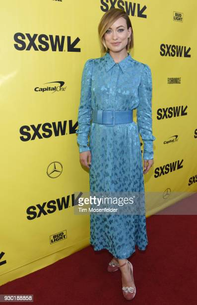 Olivia Wilde attends the premiere of A Vigilante at the Paramount Theatre on March 10 2018 in Austin Texas