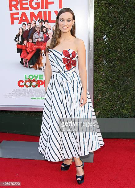 Olivia Wilde attends the premiere of CBS Films 'Love The Coopers' at the Park Plaza on November 12 2015 in Los Angeles California