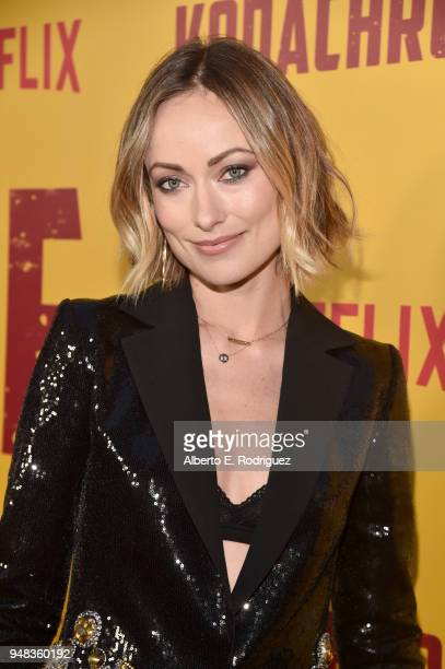 Olivia Wilde attends the premiere of Netflix's 'Kodachrome' at ArcLight Cinemas on April 18 2018 in Hollywood California