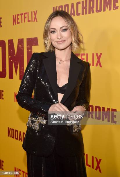 Olivia Wilde attends the premiere of Netflix's Kodachrome at ArcLight Cinemas on April 18 2018 in Hollywood California