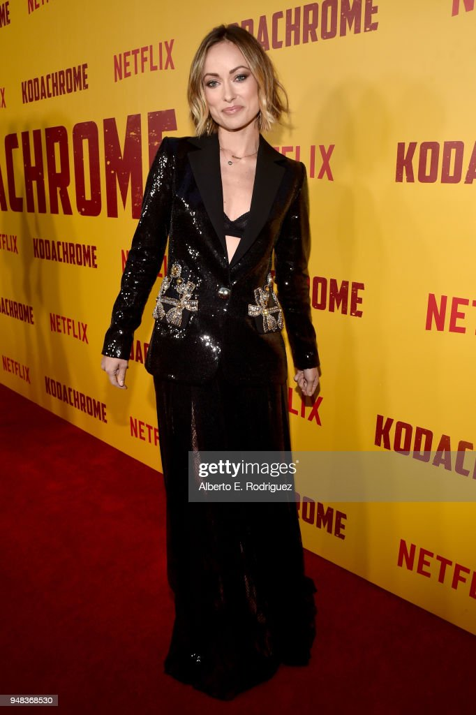 Olivia Wilde attends the premiere of Netflix's 'Kodachrome' at ArcLight Cinemas on April 18, 2018 in Hollywood, California.