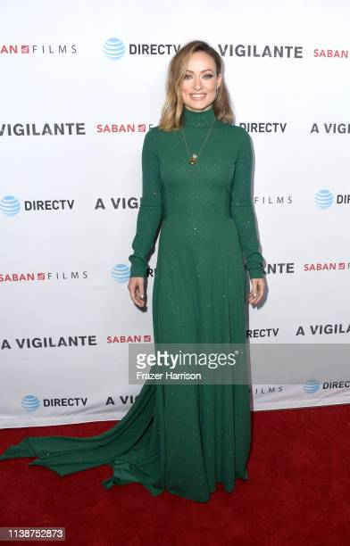 Olivia Wilde attends the Premiere Of Saban Films And DirecTV's A Vigilante at the Vista Theatre on March 27 2019 in Los Angeles California