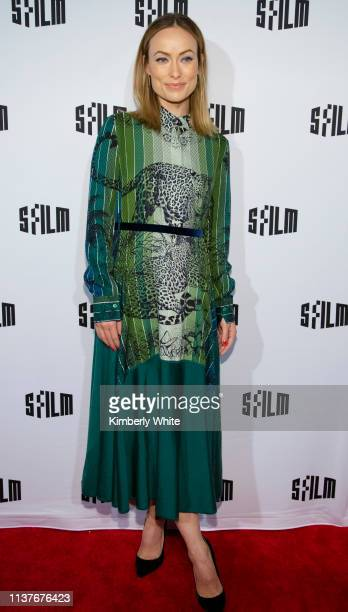 Olivia Wilde attends the red carpet premiere at the Castro Theatre of Booksmart at the 2019 San Francisco International Film Festival on April 16...