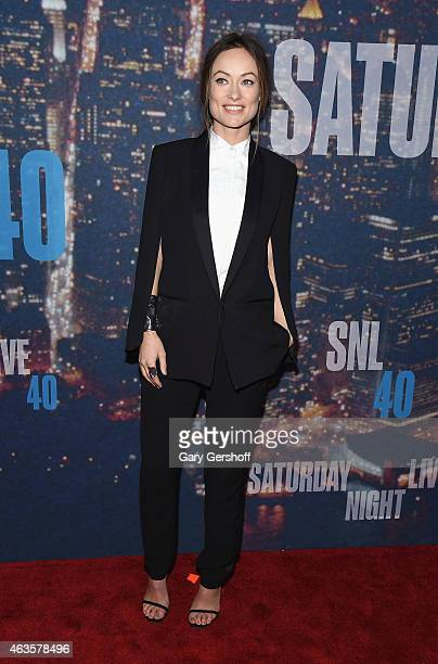 Olivia Wilde attends the SNL 40th Anniversary Celebration at Rockefeller Plaza on February 15 2015 in New York City